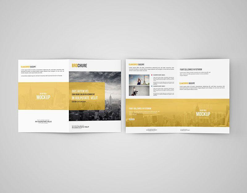 A BiFold Brochure Mockup  Mockups Psd Templates For Designers