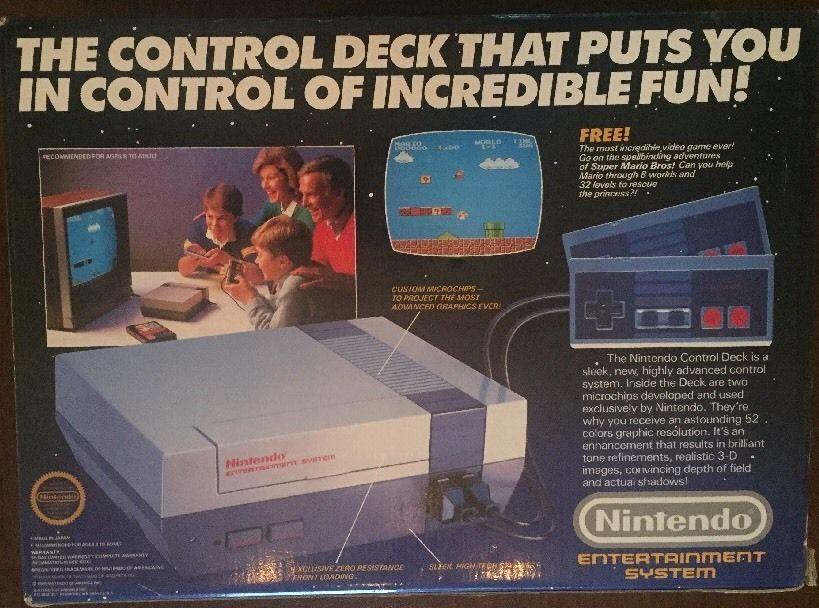 Vintage 1986 Nintendo Control Deck Super Mario Brothers Game