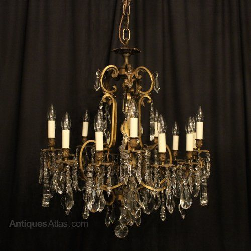 Antiques atlas a french 15 light antique cage chandelier