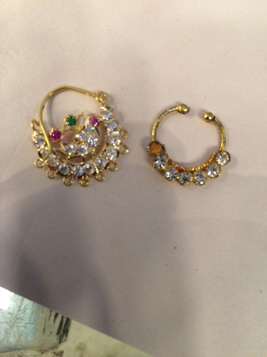 About nath nose ring mukku pudaka on pinterest jewellery gold nose - Explore Nose Rings Jewellery Designs And More Nath