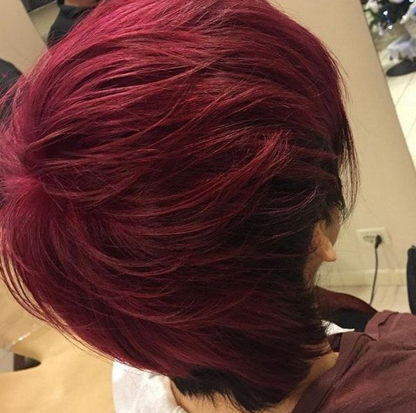 Flame Red Hair Color 2018 2019 With Deep Burgundy Hair Color 2018 New Hair Colors Herbal Hair Colour