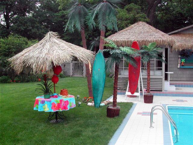 Backyard Luau With Images Luau Birthday Party Luau Theme