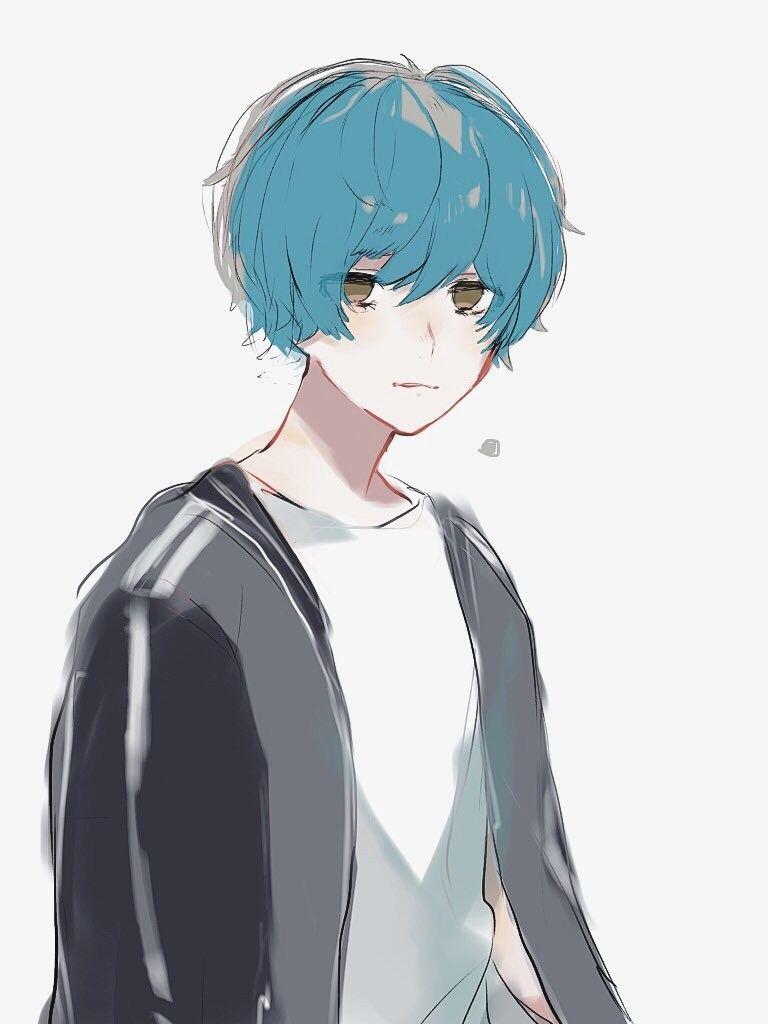 Pisces Blue Hair Anime Boy Blue Anime Anime Blue Hair