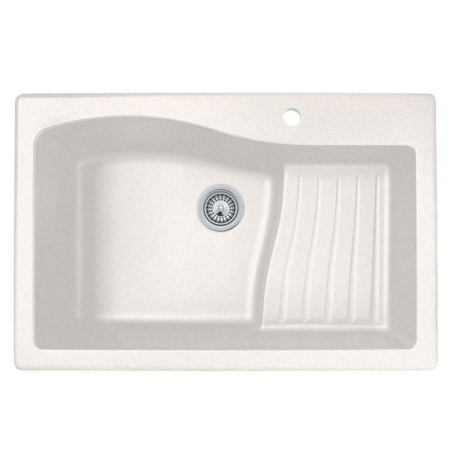 Swan 22 In X 33 In Bianca Single Basin Granite Drop In 1 Hole