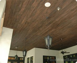Faux Wood Ceiling Systems Literally Cut Glue