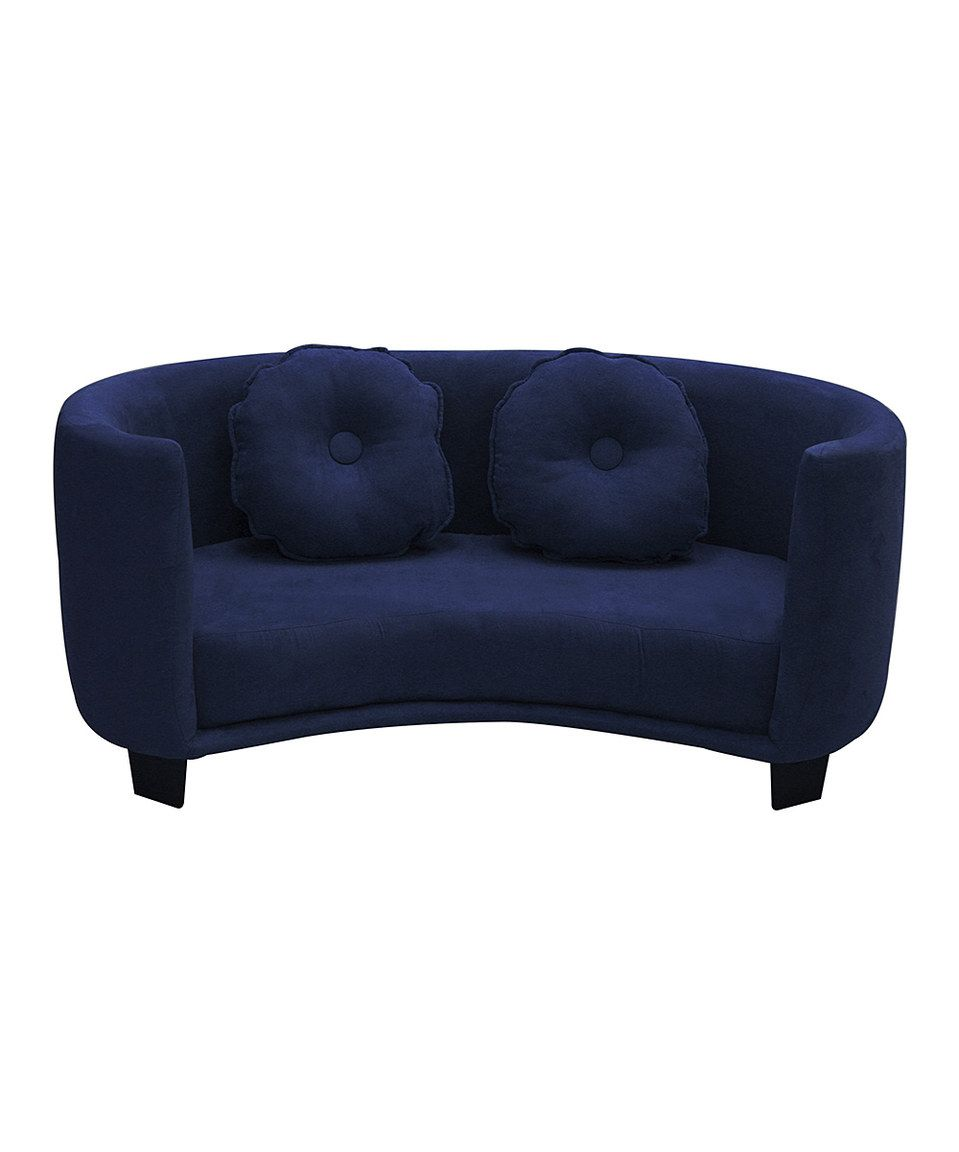 Komfy Kings Comfy Kids Sofa Navy Blue Micro By Inc Zulilyfinds