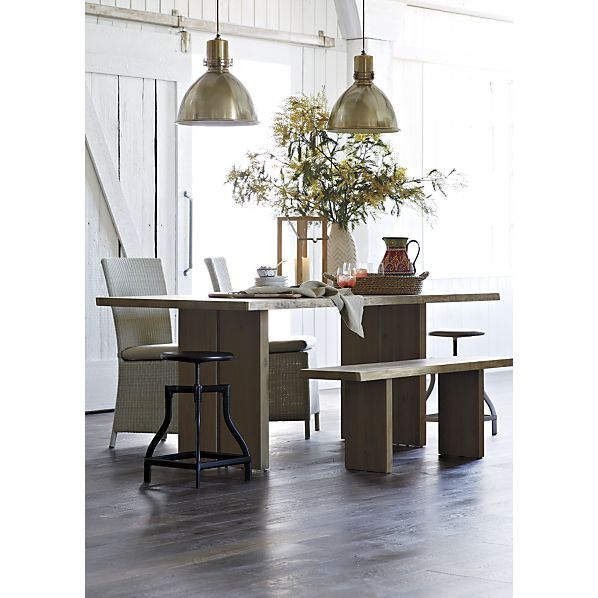 Dakota 77 Quot Dining Table Decorating Ideas Backless Bar