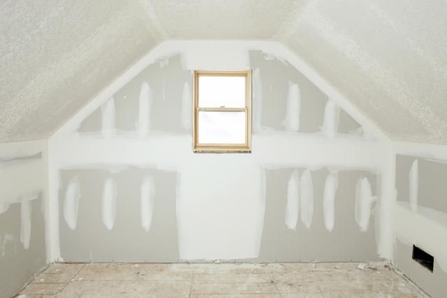 Ultralight Drywall Performs Well And Is Easier To Install Attic Renovation Attic Remodel Attic Rooms