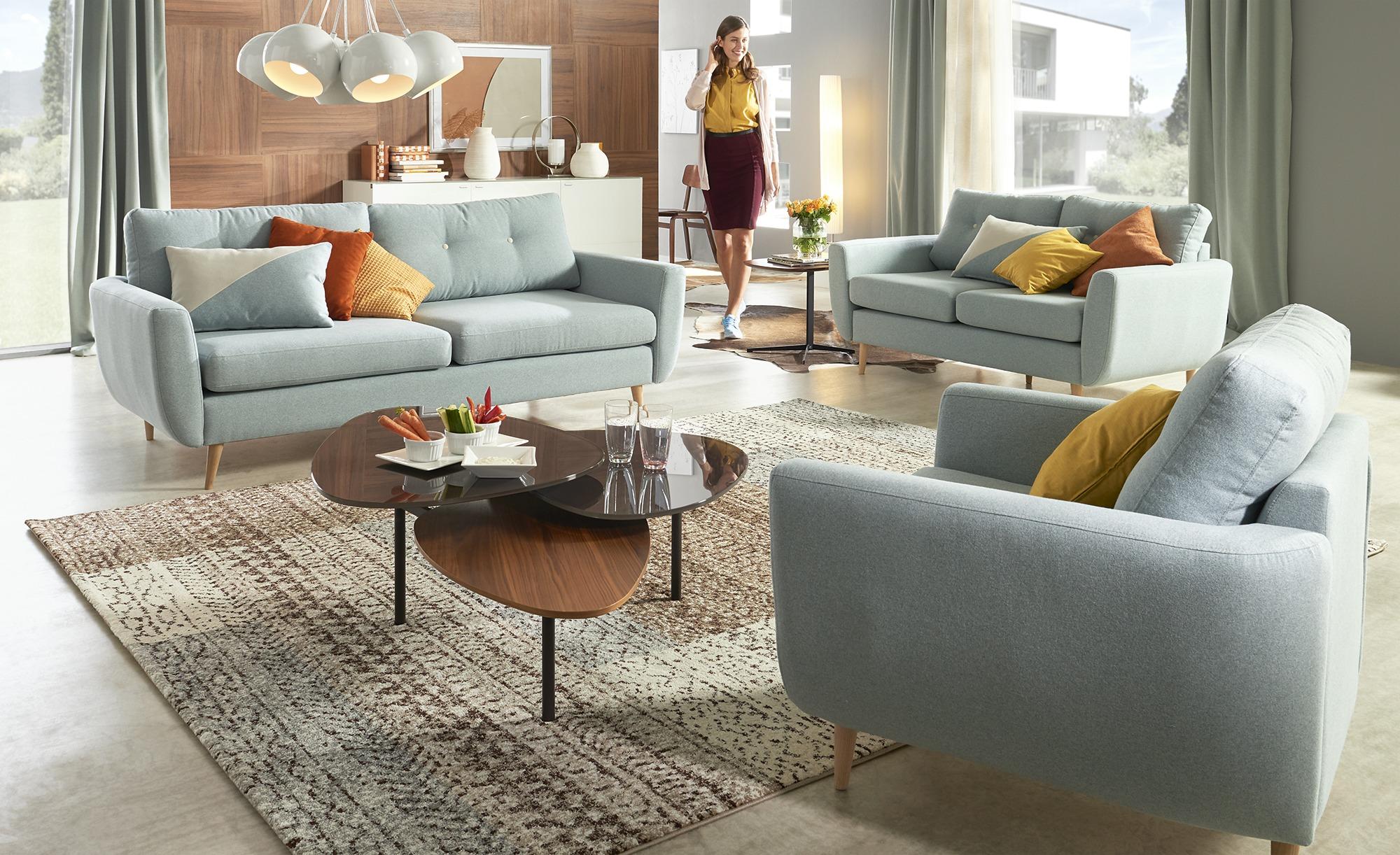 Finya Retro Sofa 3 Sitzig Mintgrun Webstoff Harris In 2020 Sofa Furniture Retro Sofa Furniture