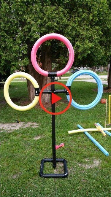 Pvc Pool Nudel Frisbee Werfen Frisbee Pvcpoolnudel Sommerfestkindergarten In 2020 Kinder Spielplatz Garten Spiele Im Garten Sommerfest Kindergarten