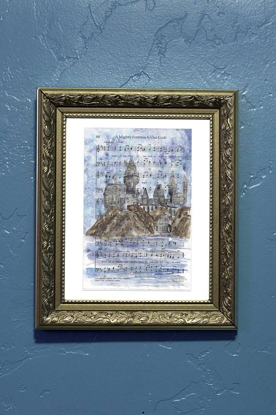 Hymn Art A Mighty Fortress is Our God LDS Watercolor Print
