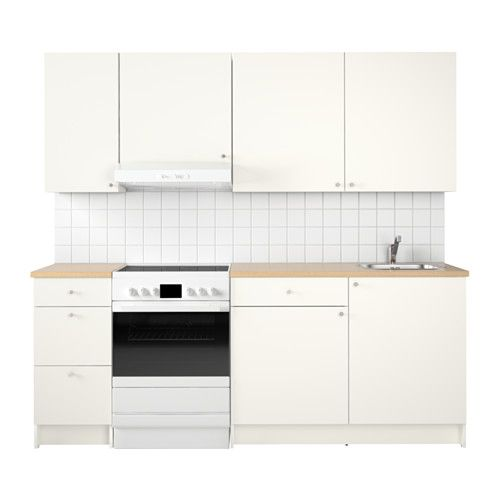 KNOXHULT Kitchen White 220x61x220 cm Water traps, Basin mixer - arbeitsplatten küche 70 cm tief