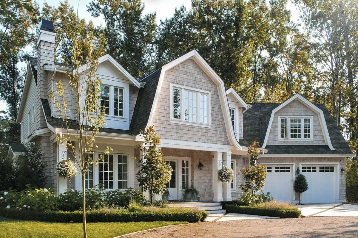 7 Bedroom Two Story Exclusive Newport style Home with Gambrel Roofs Floor Plan