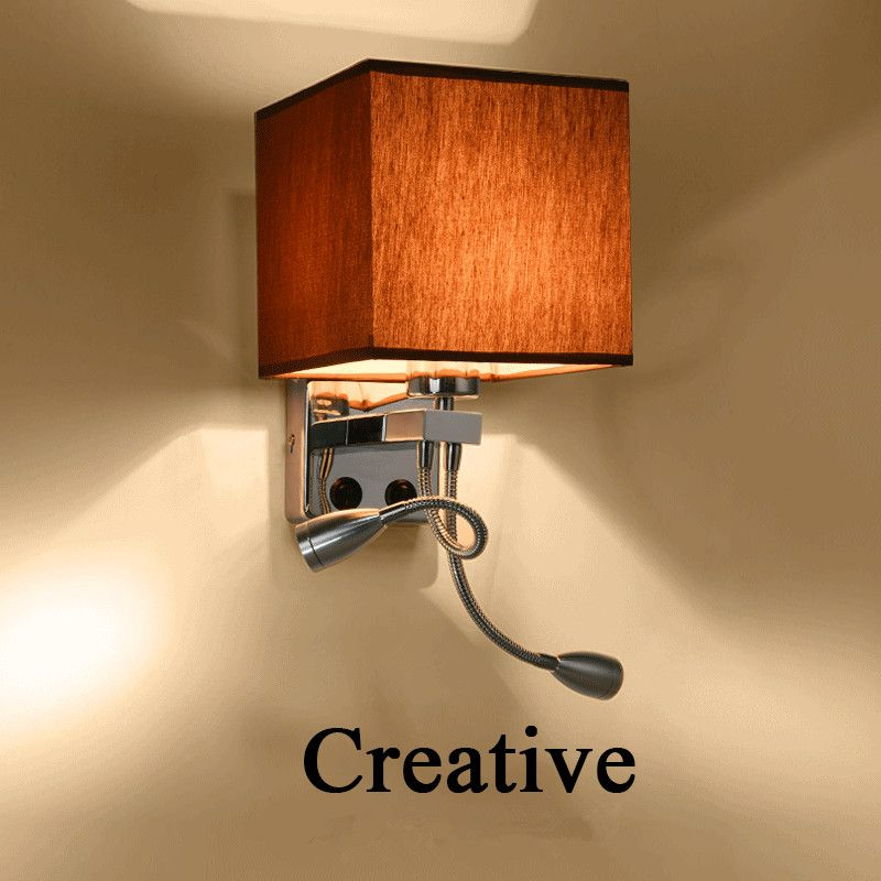 Find More Wall Lamps Information about Modern Wall Lamp Fabric ...