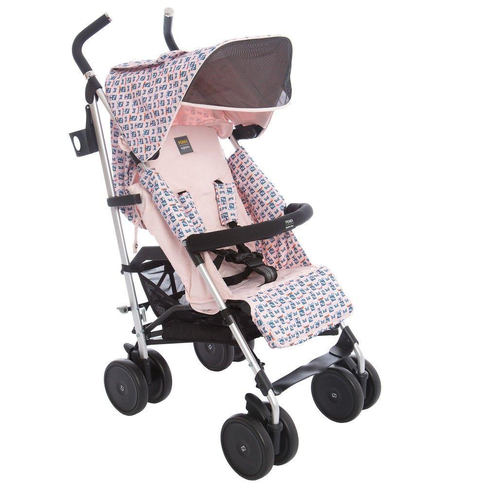 Fendi Girls Pink 'Pequin' Stroller imagens) Pequinês