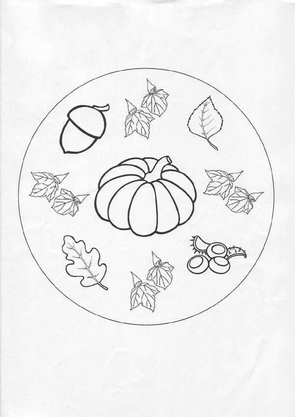 Autumn mandala worksheet mandala pinterest mandala for Fall mandala coloring pages