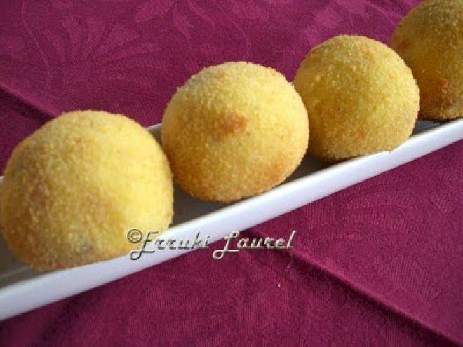 Receta Aperitivo : Croquetas de patata y foie por Erruki