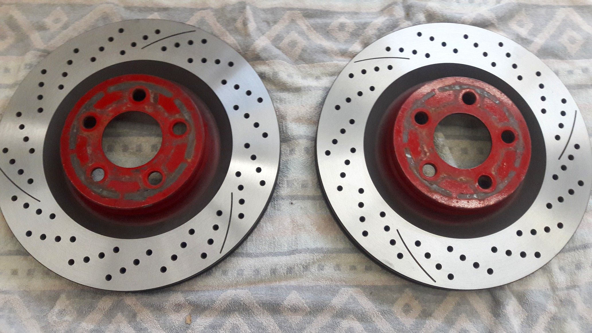 Working on the brakes today  The rotors look so good right