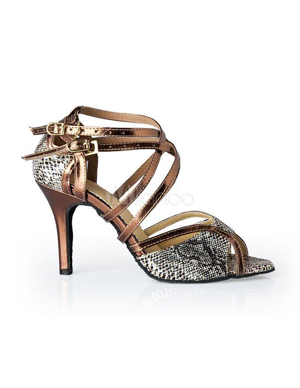 e3c2d3b0f2 Zapatos de bailes latinos con estampado de serpiente