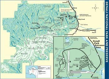 Denali National park Map Alaska Pinterest Park and Alaska
