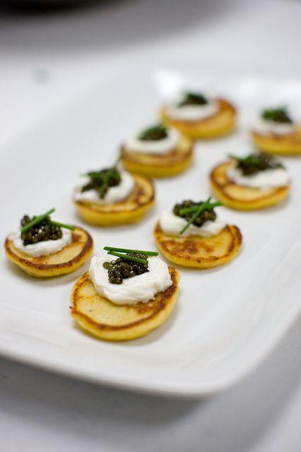 Blini Caviar Party Snack Food Appetizer Bites Blini Caviar