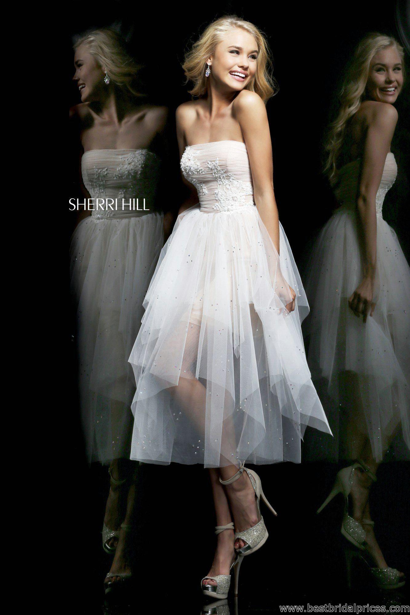 Sherri Hill - Style 21299 #sherrihill #tealength #promdresses