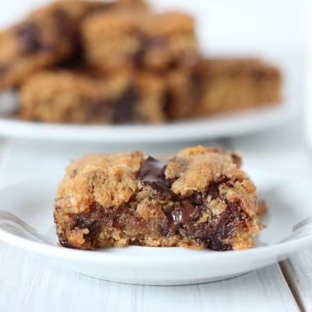 Texanerin Baking: 100% Whole Grain Peanut Butter Chocolate Bars