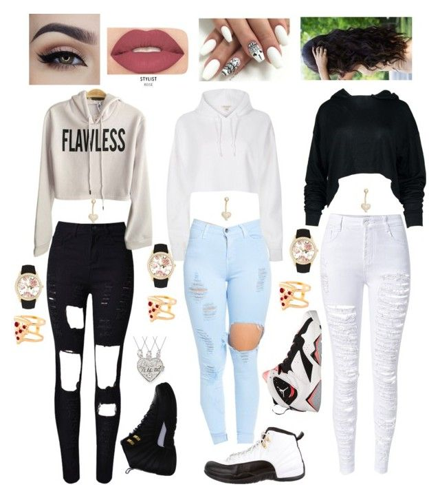 """""""Best Friends Come In 3"""" by naomi-rachell on Polyvore featuring River Island, WithChic, NIKE, Retrò, Jessica Carlyle, Gioelli Designs, Smashbox and Glenda López"""