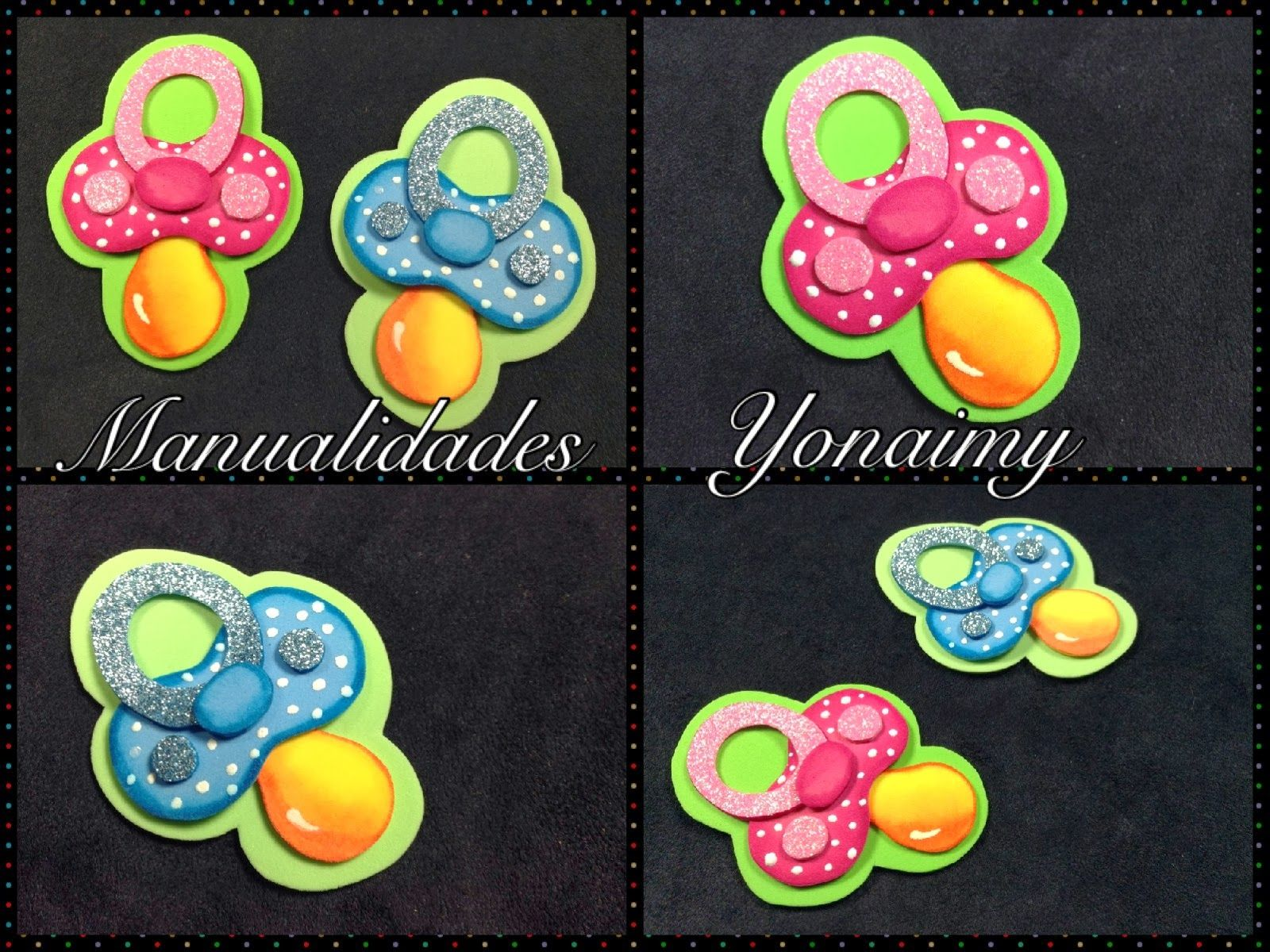 Manualidades yonaimy chupones de bebe para baby shower for Manualidades decoracion bebe