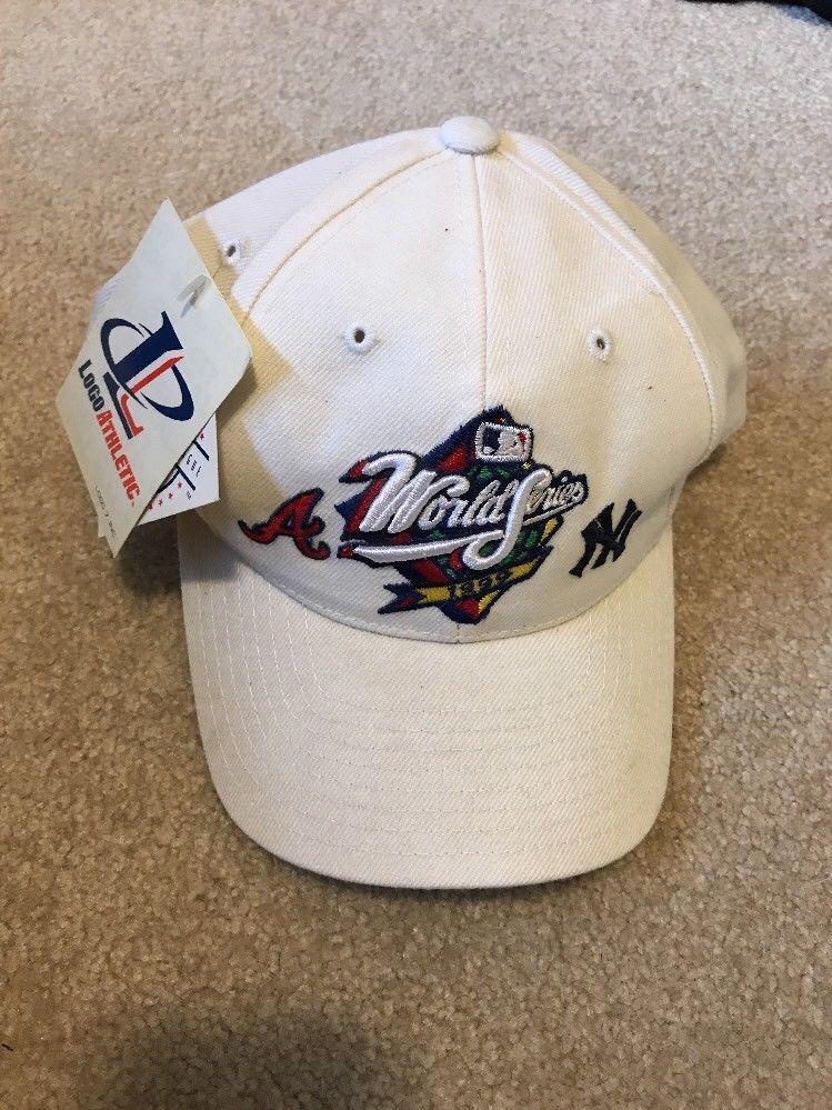 1b426bd5ed5 ... uk rare nwt 1999 world series atlanta braves new york yankees snap back  hat logo logoathletic