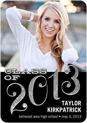 Glitter Graduation Invitations and Graduation Announcements