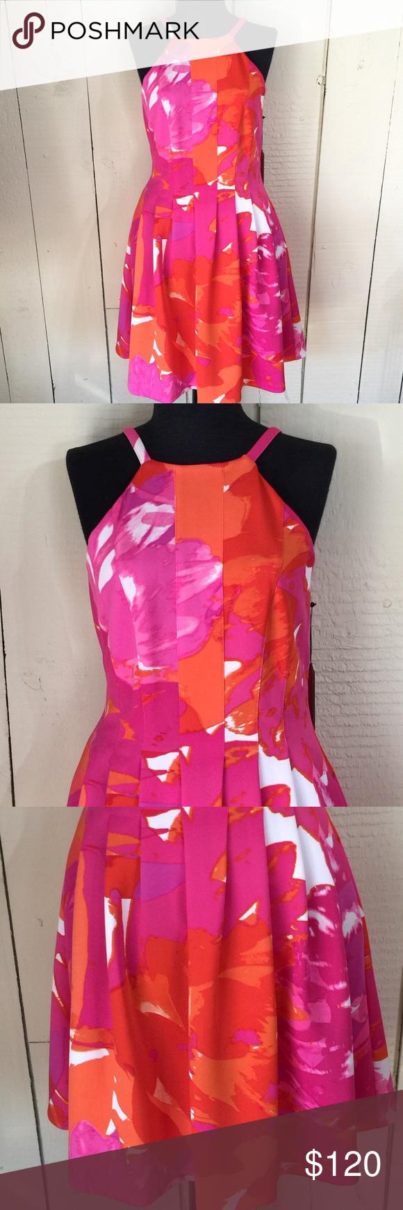 Bnwt Vince Camuto Pleated Floral Gorgeous Dresses Clothes Design Floral Halter Top [ 1740 x 580 Pixel ]