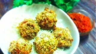 Crunchy pork and coriander meatballs from Holly Bell