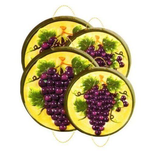 Amazon Com Tuscany Grapes 3 D Stove Burner Covers Set Of 4