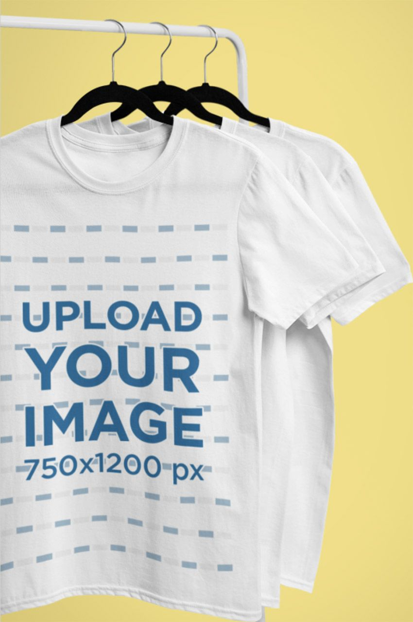 Download How To Create A T Shirt Mockup Using A T Shirt Mockup Generator Clothing Mockup Shirt Mockup Clothing Rack