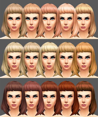 My Sims 4 Blog: Missfortunesims Cleo Hair Recolors by Sqquaresims
