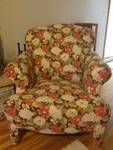 Old chair recovered.  See the old chair before picture.