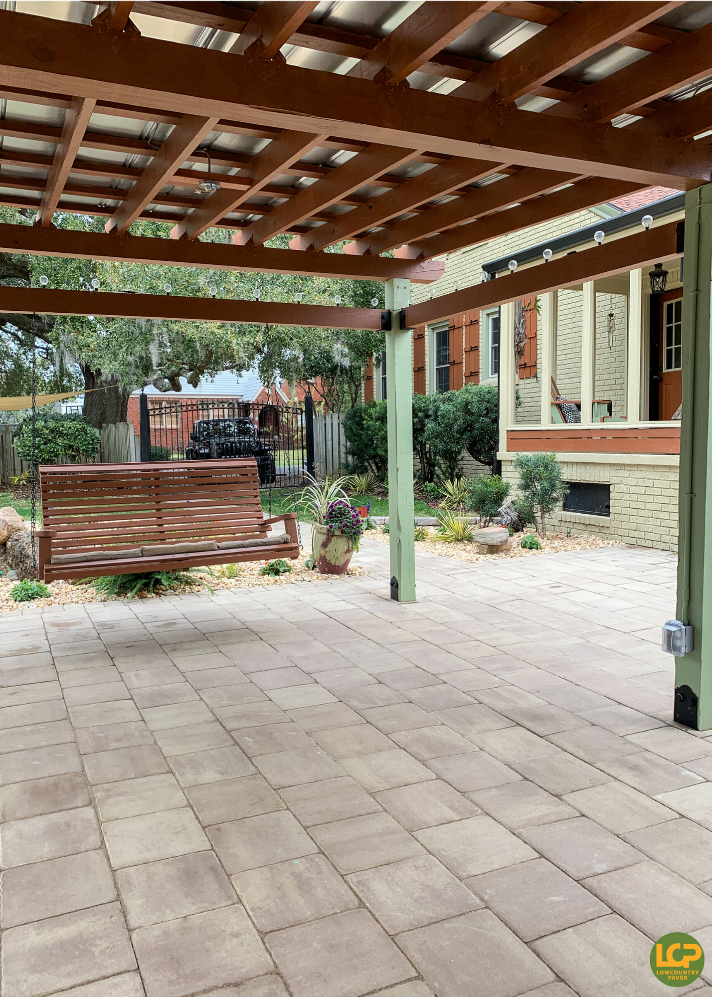 Paver patio and garden space in 2020 Outdoor oasis