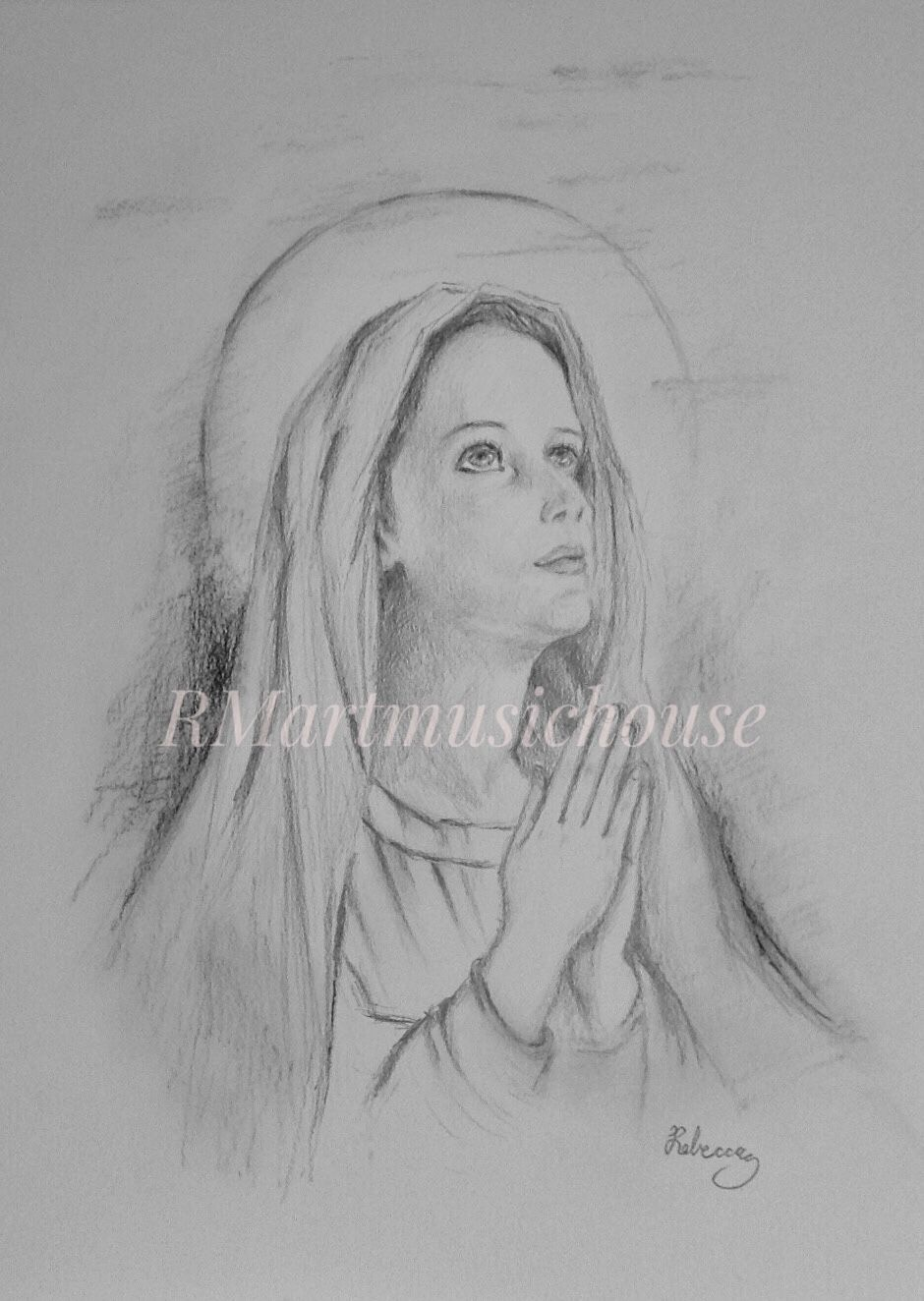 9 x 12 inches pencil on bristol religious pencil drawing pencil