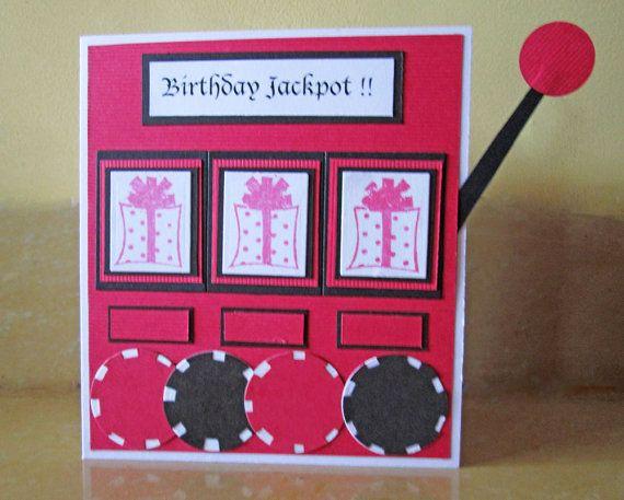 Casino Happy Birthday Card Slot Machine by DreamsByTheRiver – Poker Birthday Cards