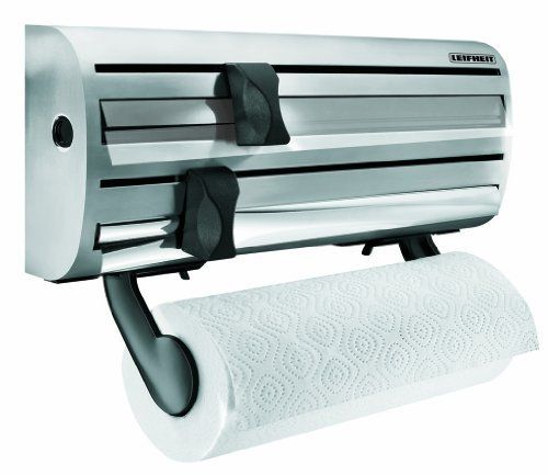 Leifheit Wall Mounted Paper Towel, Foil, And Plastic Wrap Dispenser Leifheit