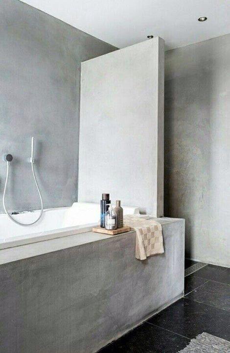 Microcemento alisado interiors pinterest for Banos de microcemento alisado