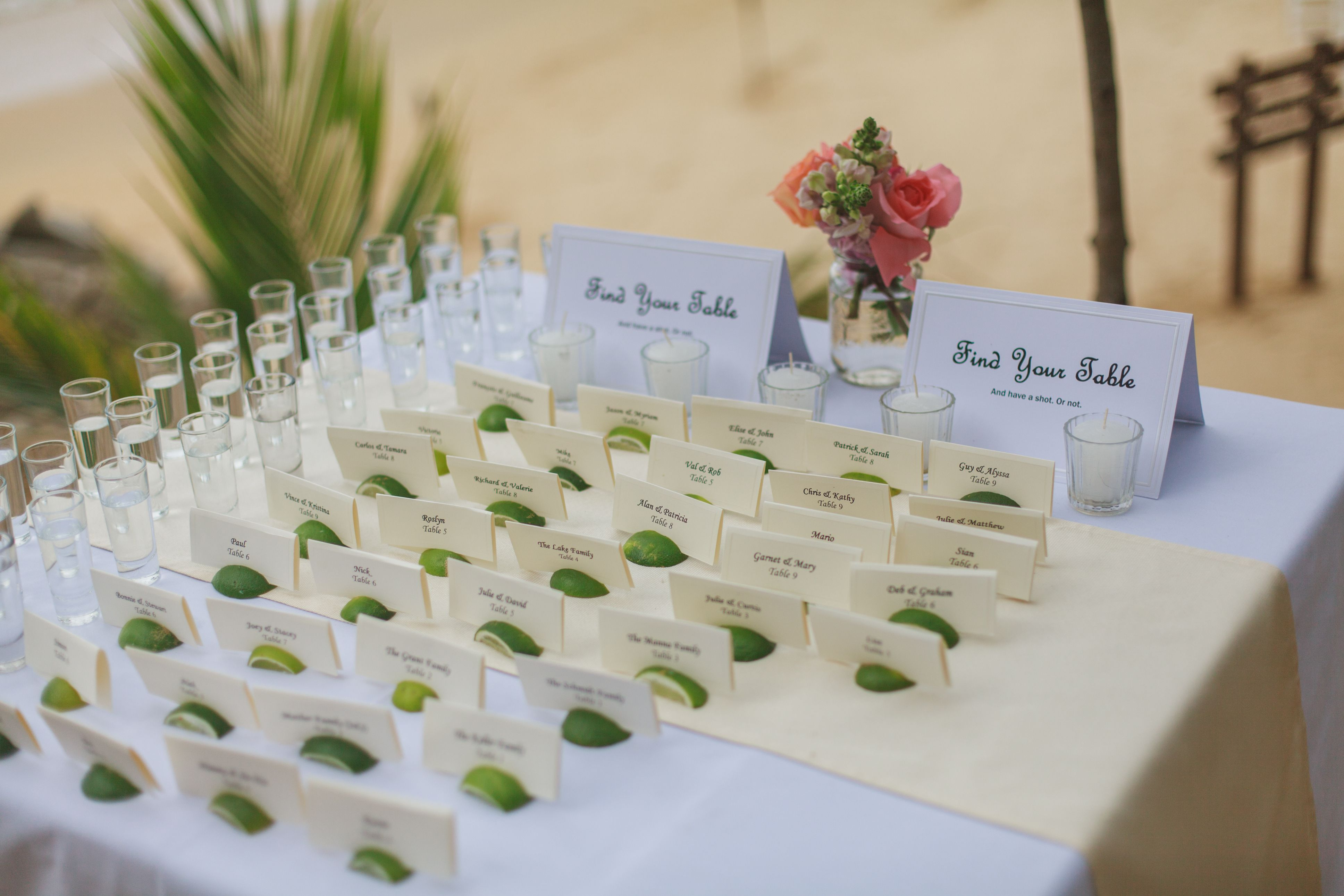 Optional Tequila Shot Amp Limes As A Seating Chart Las