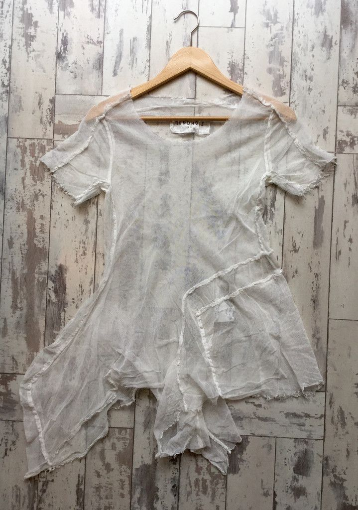 RUNDHOLZ DIP Mesh T-Shirt 2550504 Frozen Pigment 856
