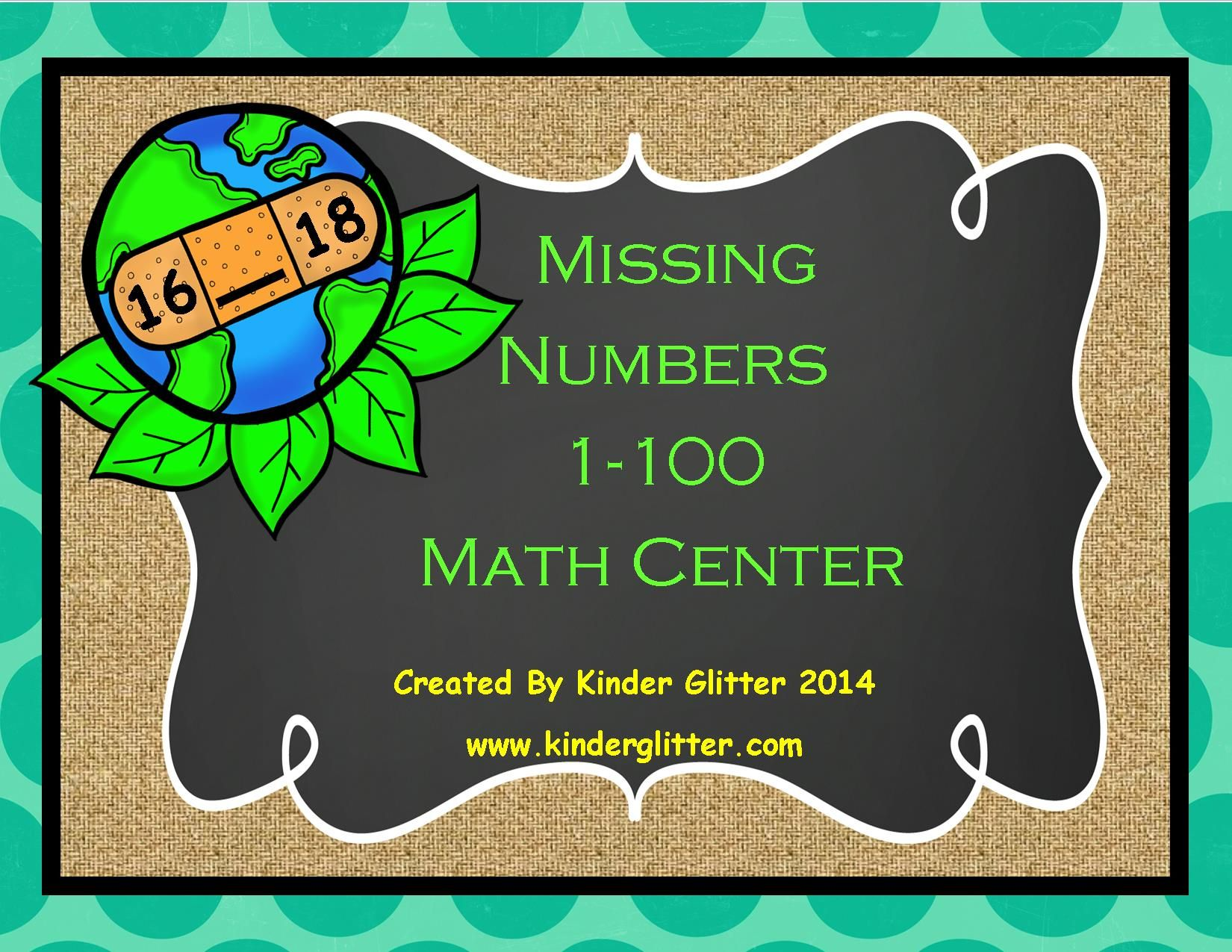 Earth Day Missing Numbers 1 100
