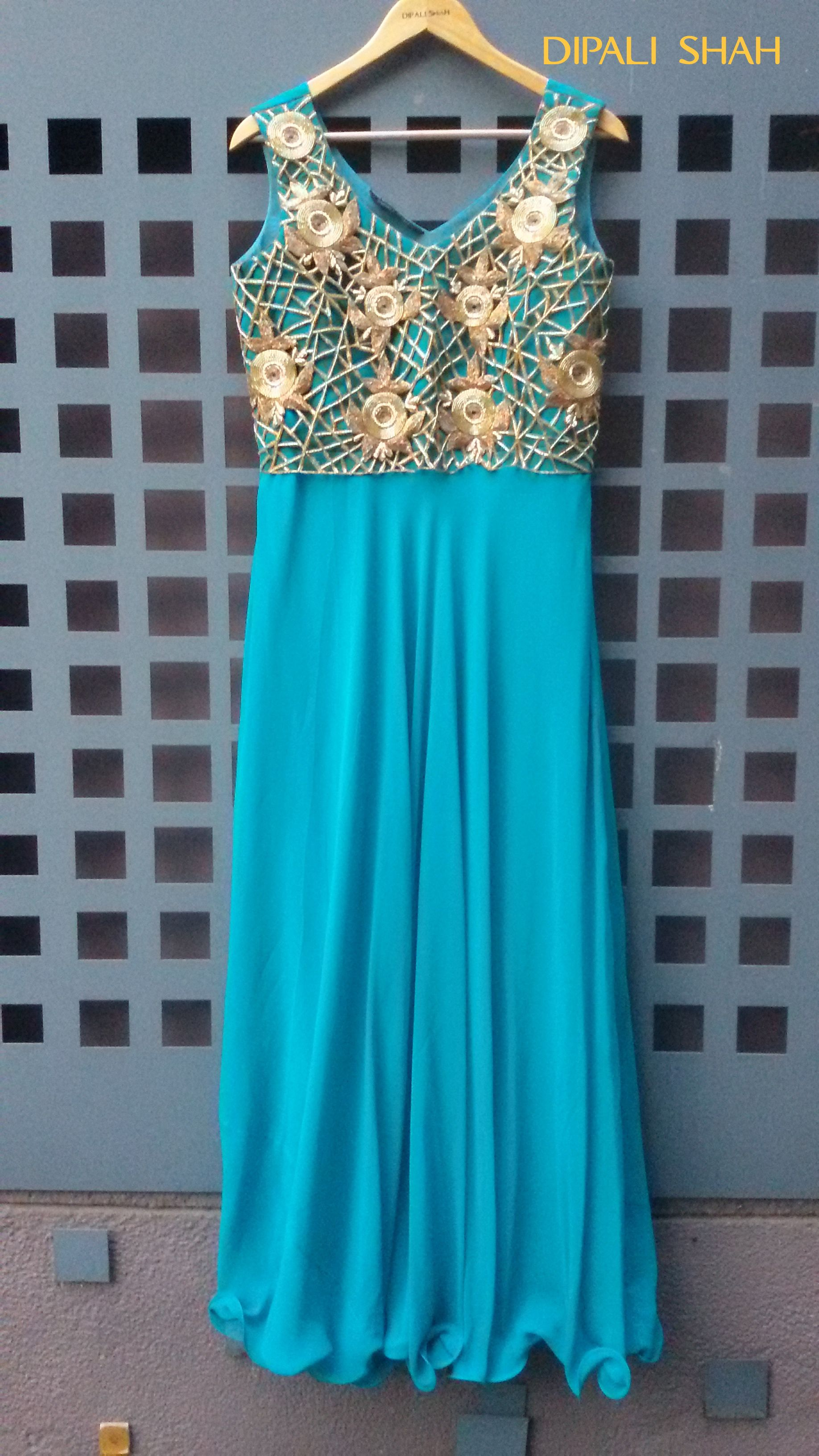 New Look for a gown style Indian wedding dress#Fashion# Blue#Sky ...