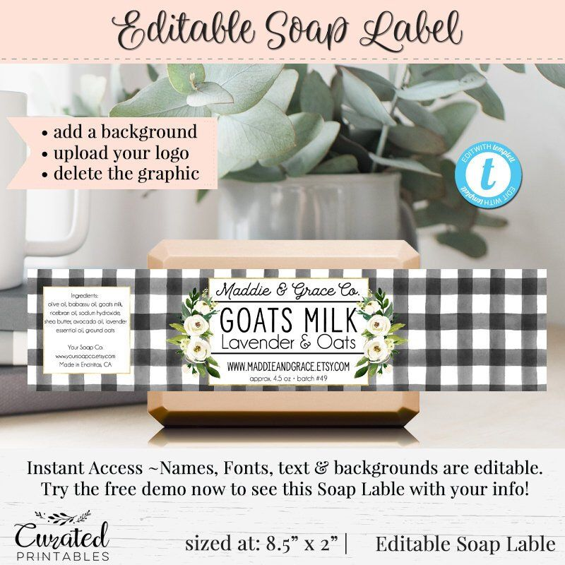 Pin by MLA Designs on Product labels | Soap labels, Label