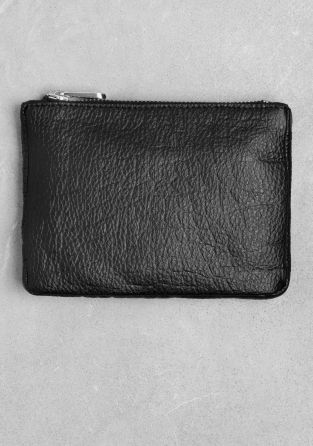 & OTHER STORIES Small leather pouch featuring a reptile-looking finish.