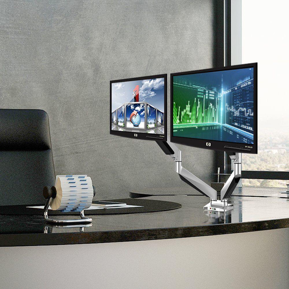 Loctek Full Motion Gas Spring Triple Arm Desk