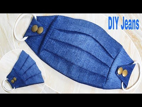 DIY Face Mask | Make Your Own Masks Easily From Jeans | Reuse Old Clothes | DIY Jeans